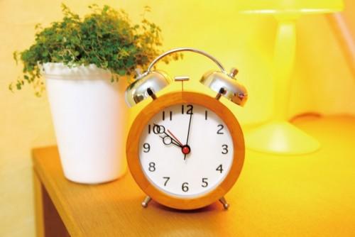 いつもより5分早めに目覚まし!