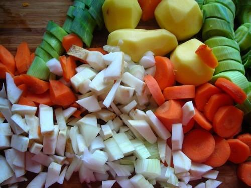 食材はできるだけ細かくカットして摂取量を減らす